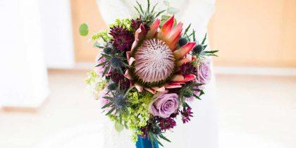 ramo de boda loving lavanda