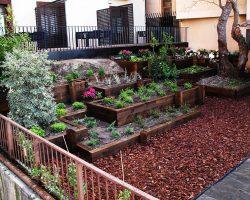 Bonito jardin exterior