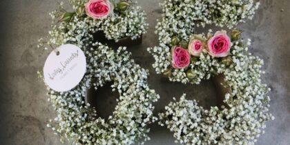 65 aniversario letras con flores