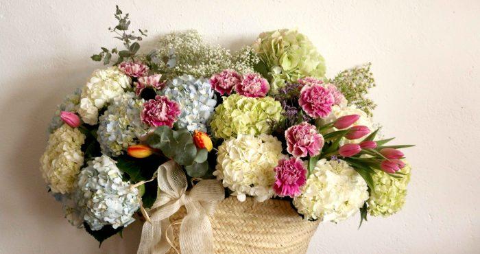 cesto de flores personalizado