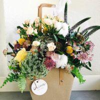 Flores Loving Lavanda Papel Kraft