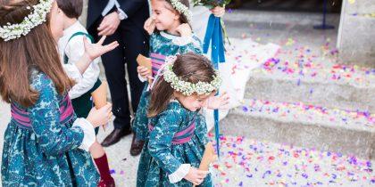 niñas en la boda de Sandra e Ivan