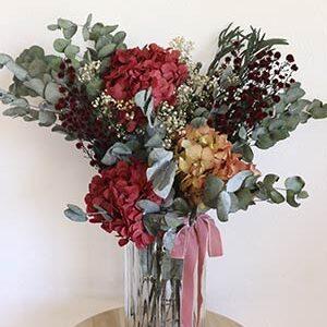Enviar Flores Preservadas - Ramo Hortensias y Ecualipto