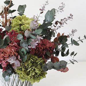Enviar Flores Preservadas - Ramo con Cerámica
